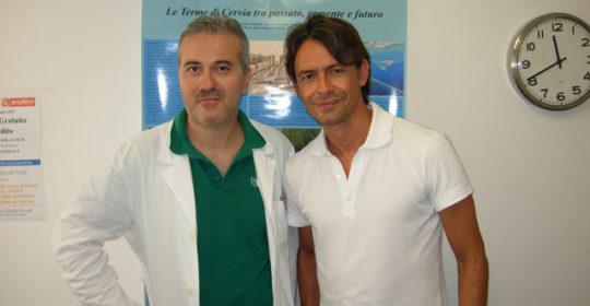 Anche Filippo Inzaghi si rilassa alle Terme di Cervia!