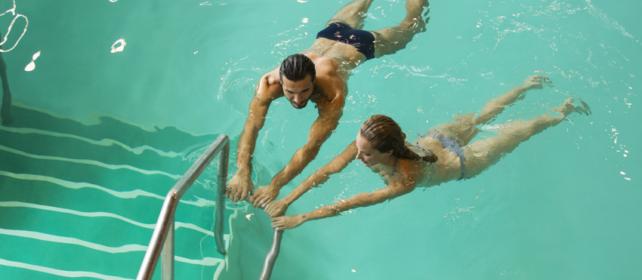 la piscina delle Terme di Cervia