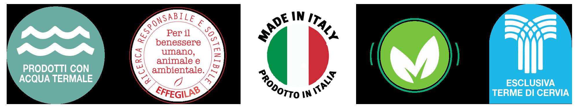 Qualità Liman Termae, cosmetici a base di Acqua Termale e principi benefici naturali, prodotti in Italia